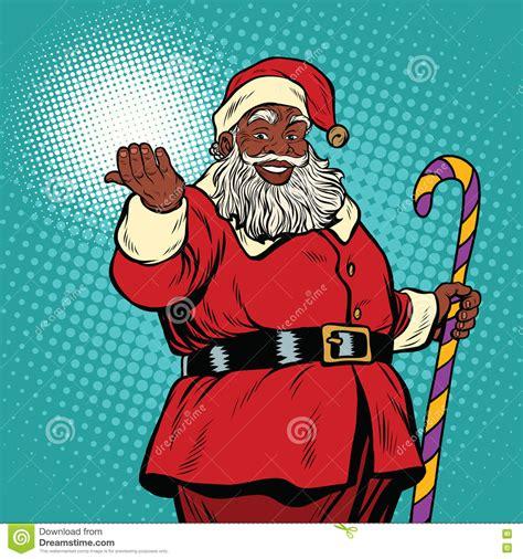 black santa claus outdoor decorations black santa royalty free stock images image 17428649