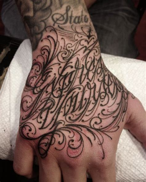 tattoo fonts king by three three king