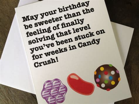 Candy Crush Gift Card - candy crush birthday card by heybuddygreetings on etsy