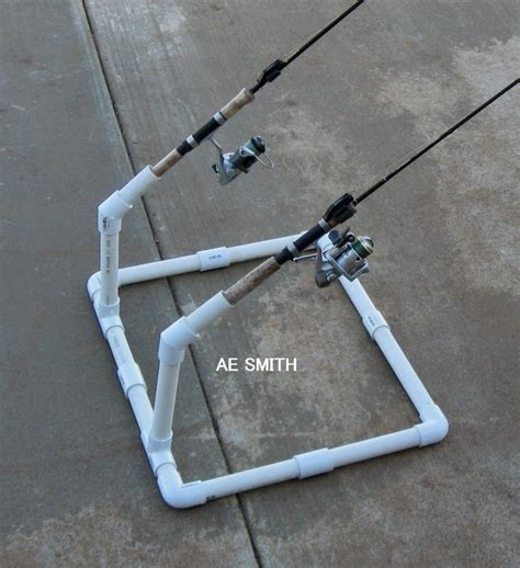 diy fishing rod holder craft ideas fishing rod holder our pond fish and surf fishing
