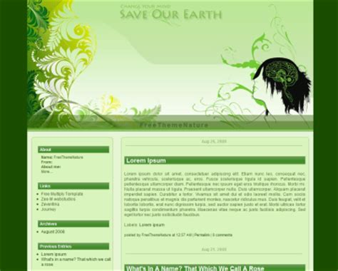blogger themes nature free blogger template for nature