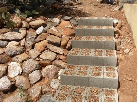Diy Patio Steps by Diy Projects With Cinder Blocks Ideas Inspirations