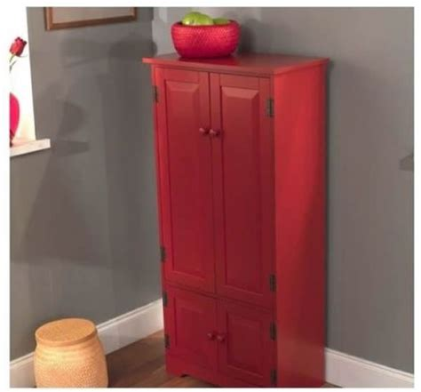 red kitchen pantry cabinet red tall cabinet storage kitchen pantry organizer