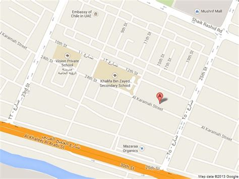 abu dhabi map location embassies in abu dhabi