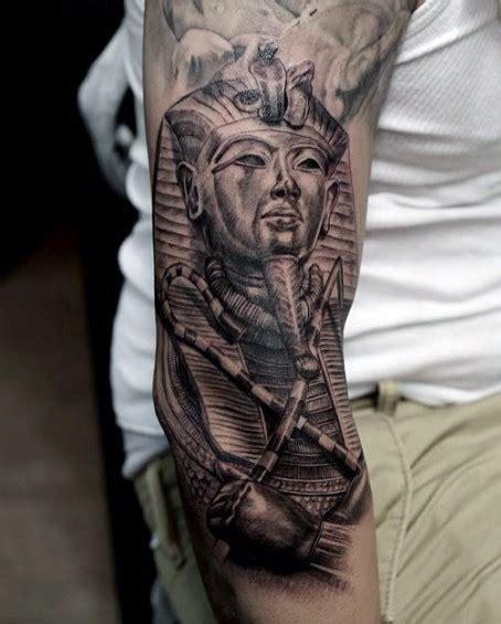 egyptian quarter sleeve tattoo 3d glorious half sleeve tattoo of ancient egypt pharaoh