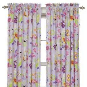 Curtain panels for girls rooms purple fairies flowers