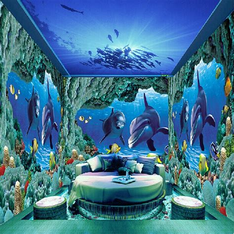 Home Design Rio Decor aliexpress com buy underwater world photo murals wall