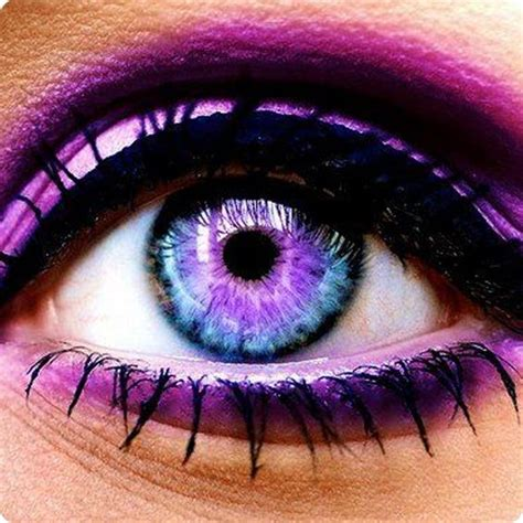 purple eye color rainbow contact lenses cat and rainbow contact