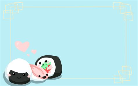 cute japanese themes sushi background by cancersskinnylove on deviantart