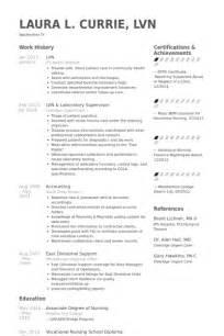lvn sample resume best resume gallery