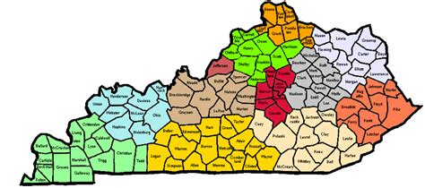 Printable Map Of Kentucky Counties