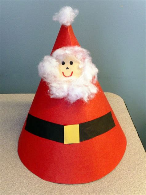 How To Make A Santa Hat Out Of Paper - santa hat ages 3 cut a semi circle out of 12 x 18