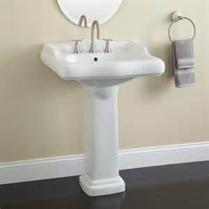 Pedestal Vanity Sink by Dawes Porcelain Pedestal Sink Bathroom