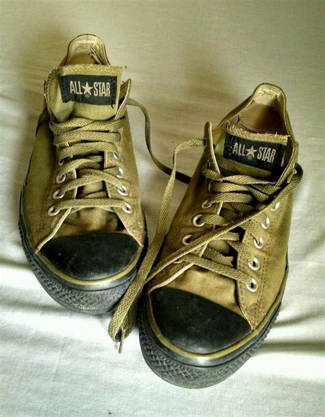converse all olive green black sole shoes mens size
