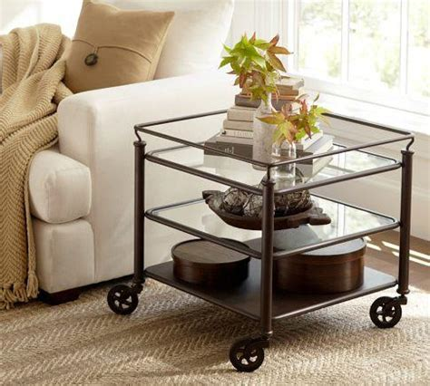 Coffee Table With Wheels Pottery Barn Robert Side Table Pottery Barn