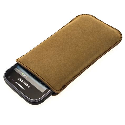 Casing Hp Samsung Ace 2 brown genuine leather pouch for samsung galaxy ace 2 i8160