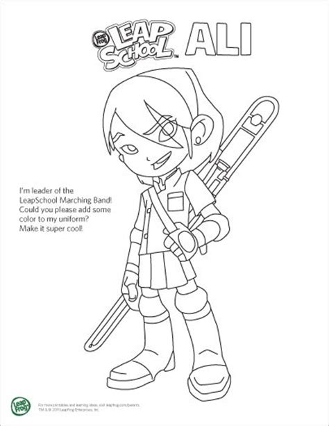 coloring page of a leap frog leapfrog leapschool coloring pages a i kids ideas