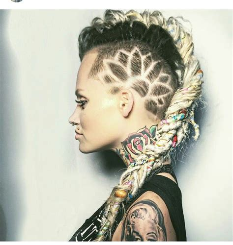 dread hawk hairdo 414 best images about side cuts undercuts on pinterest