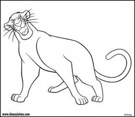 jungle book coloring pages bagheera jungle book color page disney coloring pages