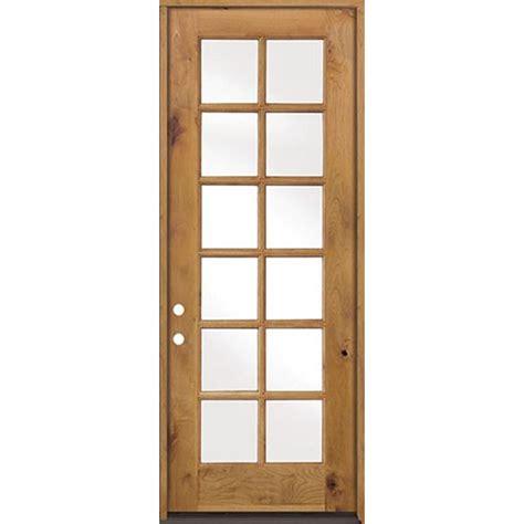 36 X 96 Wood Front Door by Krosswood Doors 36 In X 96 In Classic Alder 12