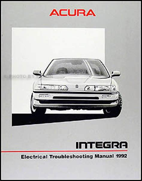 manual repair autos 1992 acura integra on board diagnostic system 1992 acura integra 4 door owners manual original