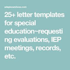Parent Letter Requesting Special Education Evaluation Adhd Letters And Articles On