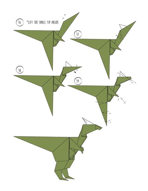 How To Make A Paper Flying Dinosaur - 24 best origami dinosaur images on dinosaur