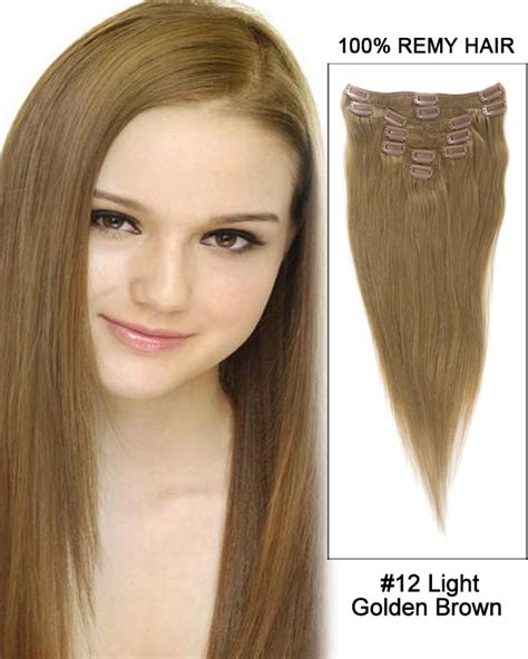 Hairclip Brown Light Brown 20 7pcs human hair clip in hair extensions 24 medium kyt hnblz clip 10 99 99