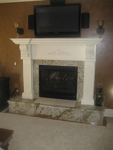 granite fireplace mantel decorating ideas