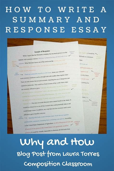 tips for writing a research paper in college why to assign summary and response essays before a