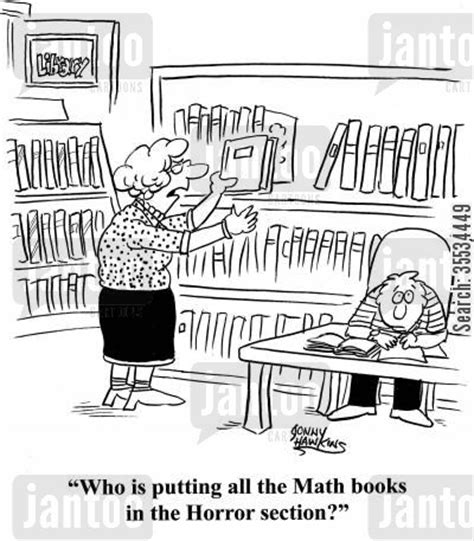 funny about me sections librarian who is putting all the math books in the