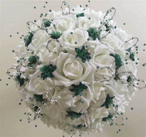 Wedding Posies by Artificial Wedding Flowers Brides Posy With 2