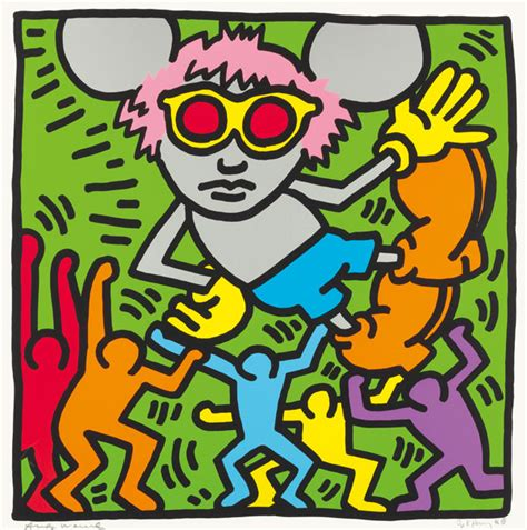 Haring Artwork by Christies Haring And Warhol Christie S