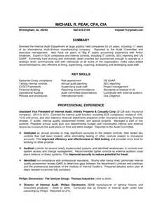 Sox Auditor Sle Resume by Auditor Resume Sales Auditor Lewesmr