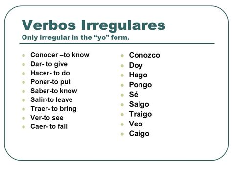 Verbs With Irregular Yo Forms Worksheet by Archives La Clase De Espa 241 Ol
