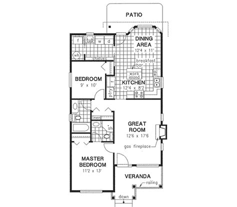 one bedroom house plans 1000 square