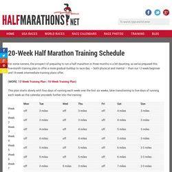 To Half Marathon 20 Weeks by Running Kmaxon Pearltrees