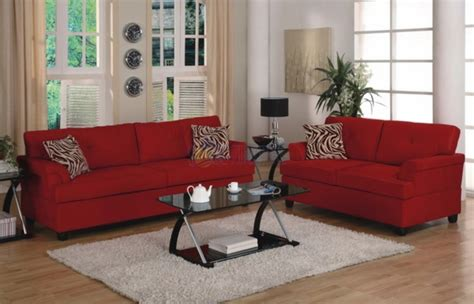 red furniture ideas how to decorate your living room with a red sofa