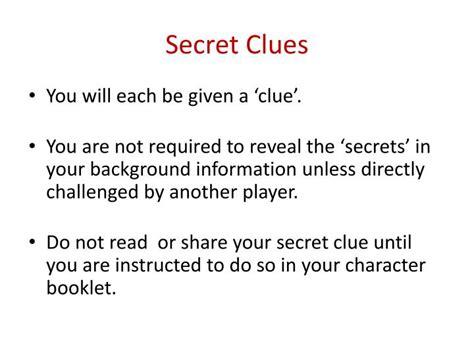 secret clues ppt pasta and pistols murder mystery dinner