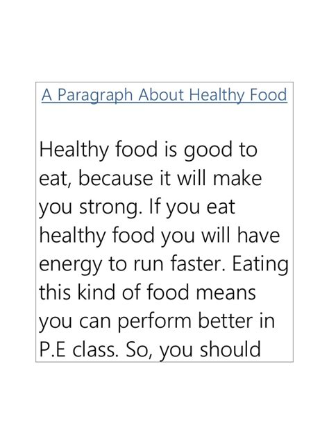 Essay About Healthy Food by Write My Essays Today Essay Healthy Food