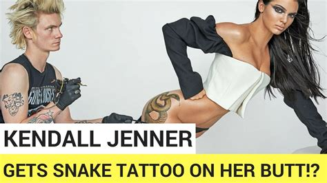 tattoos on your butt kendall jenner gets snake on