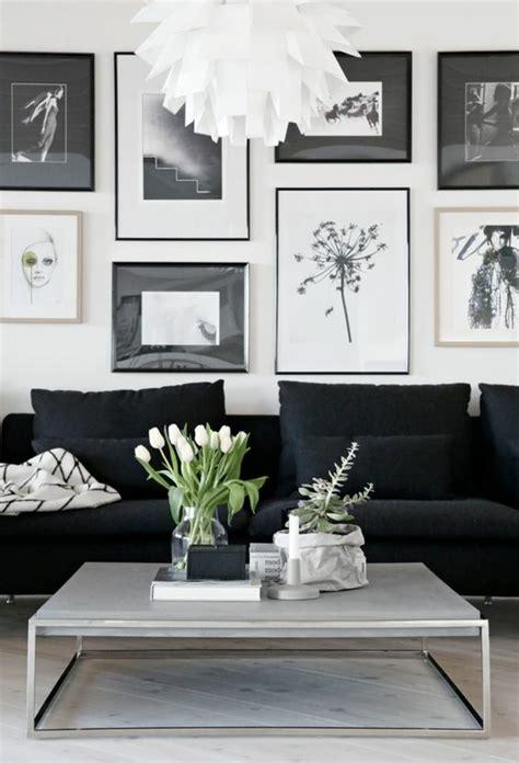 wohnzimmer wand schwarz fotowand ideen an die sie vielleicht noch nicht gedacht haben