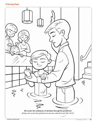 boy missionary coloring page primarily inclined coloring pages from lds org