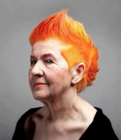 old lady mohawk rock your locks timeline photos hair pinterest