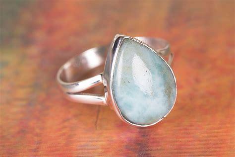 Handmade Gemstone Rings - beautiful larimar gemstone handmade sterling silver ring