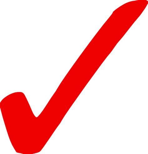Light Red Check Mark Clip Art at Clker.com   vector clip