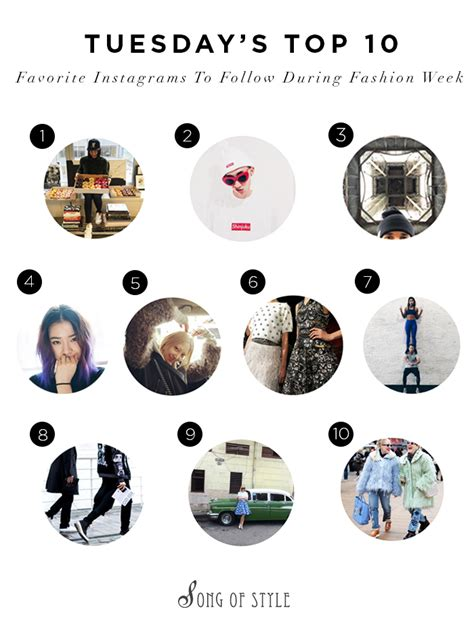 design instagrams to follow top 10 favorite instagrams during fashion week