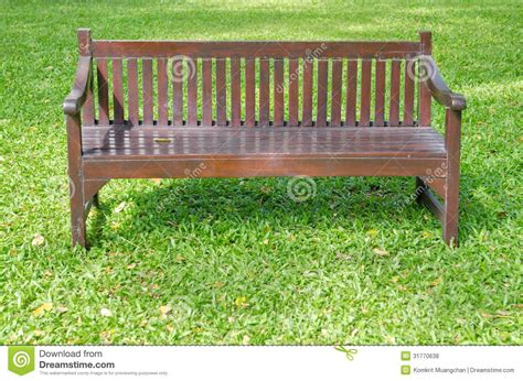 what is green bench bench on green grass royalty free stock photos image
