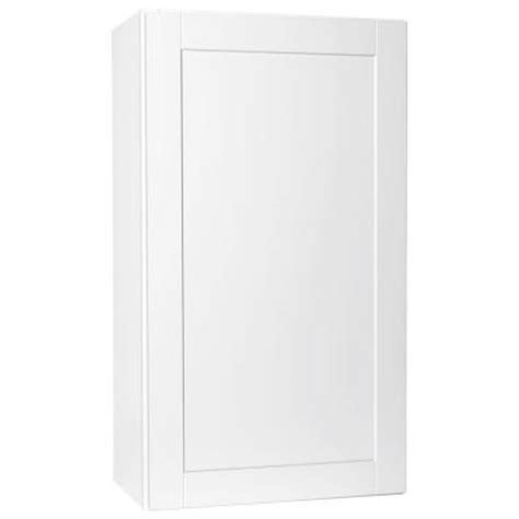 Shaker Cabinets Home Depot by Hton Bay 24x42x12 In Shaker Wall Cabinet In Satin