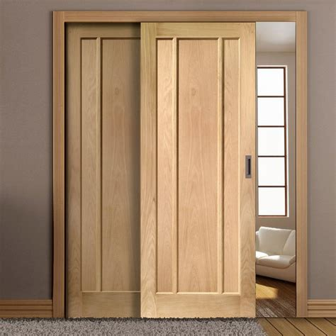 sliding doors easi slide op3 oak worcester 3 panel flush sliding door